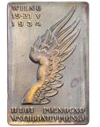 II RP lotnictwo plakieta 1934 Wilno st.1.jpg