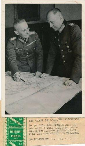 Pressefoto 1939 General von Brauchitsch - Generaloberst Franz Halder Polnische.jpg