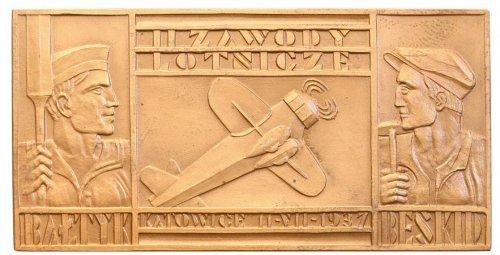II RP lotnictwo plakieta 1937 zawody Katowice st.1 (1).jpg