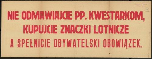 Nie odmawiajcie pp. kwestarkom, kupujcie znaczki lotnicze a spełnicie obywatelski obowiązek.jpg