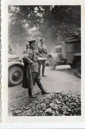 Vor Lublin 1939 Polen General Faber du Vour Vormarsch in Marlkow !.jpg