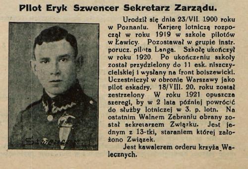 st.sierż.pil. Eryk Szwencer Związek Lotnikow Polskich.png