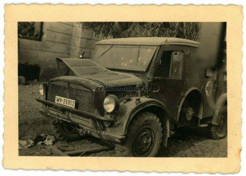 zerstörter deutscher Sanka, Radomsko 1939 (Przedborg) (Insassen ermordet), 1939.jpg