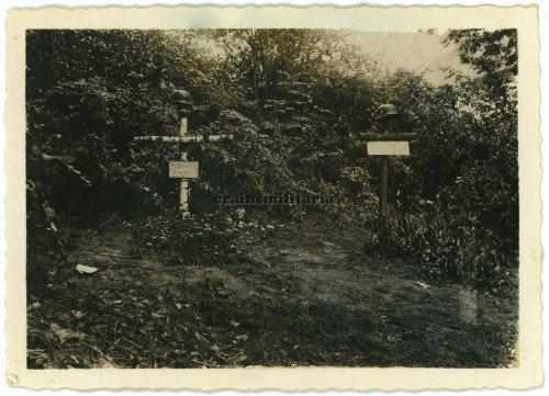 Grab der Pionier Josef Vyhanek, gefallen am 5. September 1939 in Krzywaczka, südlich Krakau, Polen. Heute in Siemianowice beerdigt.jpg