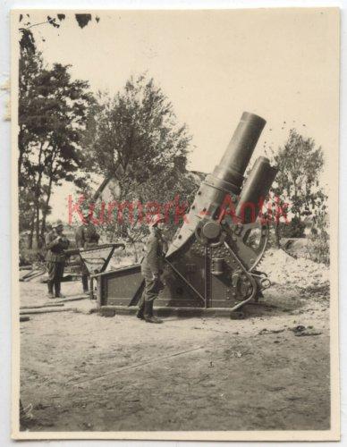 Wehrmacht Artillerie Abt.641 Polen Warschau Beute Skoda Mörser Kanone_2.jpg