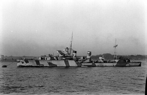 HMS Grenville 15.01.1940 roku, na trzy dni przed swoim końcem..jpg